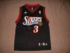 Philadelphia 76ers black #3 Iverson Adidas Youth Small NBA Basketball Jersey