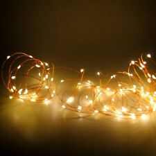 10M Warm White 100 LED String Copper Wire Fairy Xmas Lights Wedding Party Decor