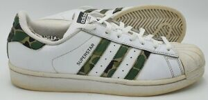 Adidas Superstar Low Leather Trainers B44855 White/Camouflage UK8.5/US9/EU42.5