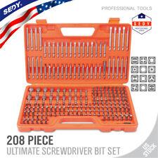 208-Piece Screwdriver Bit Set Security Bit Made Chrome Vanadium Steel Full Size
