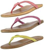 OLUKAI PRE OWNED 20139  WOMEN'S  HULALI LEATHER FLIP FLOP SANDAL US 8, EU 38