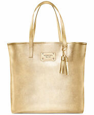 Michael Kors Glamorous Tote Hand Bag Large Gold Tone Faux Leather 2017 Purse