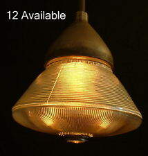 "NOS Holophane 2378 12"" Shade Vintage Industrial Glass Pendant Kitchen Light"