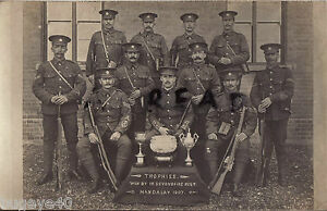 Soldat Gruppe 1st Bataillon Devonshire Regiment Devons Shooting Team & Trophäen