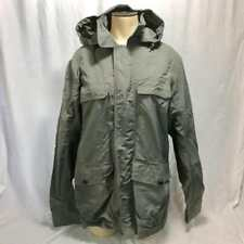 Lands' End Mens Gray Parka Shell Size S 34-36