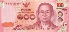 Thailand 100 Baht 2015 Birthday Princess Sirindhorn Unc pn New