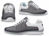 MENS NEW TRAINERS K.SWISS RINZLER SP WHITE GREY LACE UP LEATHER TRAINERS 6 - 12