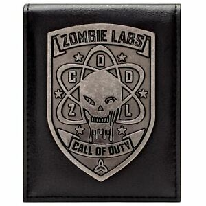 Official Call Of Duty Zombies Silver Badge Black Id & Card Wallet *SECOND*