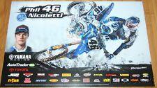 2015 Phil Nicoletti Joe Gibbs Racing Yamaha YZ450F Supercross Motocross poster