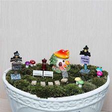 38Pcs Miniature Flower Garden Fairy Dollhouse Ornament Bonsai Resin Craft Decor
