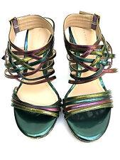Zara Multicolored High Heel Platform Strapy Sandals Size Uk3 Eur36 Us6