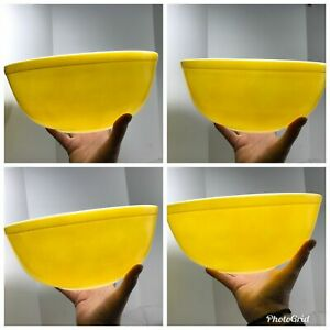 Pyrex Mixing Bowl Primary Color Yellow 404 Vintage