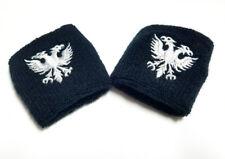 SET OF 2 - Double-Headed Eagle Black Terry Cloth Wristband