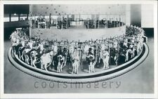 Artist Drawing Revolving Rotolactor Milking Machine Dairy Cows Press Photo