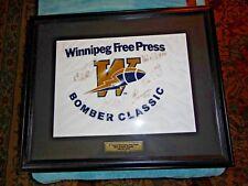 4th Annual Winnipeg Free Press Blue  Bomber Classic 2002 Signed Print (285/300)