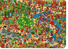 "Where's Wally? novelty postcard. ""The Fantastic Flower Garden"""