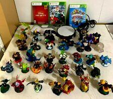 Lot of 34 Skylanders Disney Infinty Portal of Power 3 Games Xbox 360
