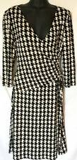 Evan Picone Dress Womens Size 6 Black Houndstooth R853