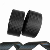 2 Cycling Cork Handlebar Tape + 2 Bar Plug Carbon Fiber Belt Strap Road Bike MTB