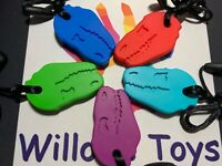Kids Adult Chewy Necklace Pen Topper Autism ADHD Biting Sensory Chew Teething
