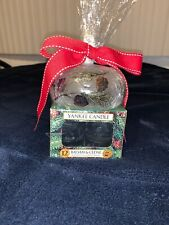 NEW Yankee Candle Balsam & Cedar Tealight Candles and Holder Gift Set