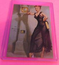 1950's GIL ELVGREN'S SEXY PIN-UP GIRL ART TRADING CARD #39 THE HONEYMOON'S OVER