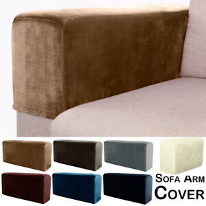 2/4/5/8PC Removable Arm Stretch Sofa Couch Chair Armchair Covers Armrest Covers