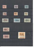 Oberschlesien 1920, Michelnummern: 30 - 40 *, Einzelmarken *, ungebraucht *