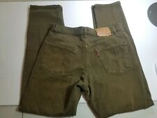 Mens Levis Levi Jeans 550 Relaxed Fit Size 34x34 Olive Green