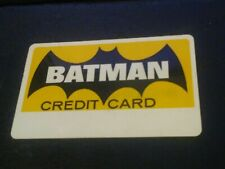 Vtg 1966 BATMAN Credit Card - National Periodical Publications - Unsigned