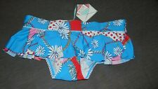 FrostFrench Floozie Bikini Bottoms 'Chain Rope' Skirted Hipster 10 Blue BNWT