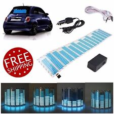 Car LED Light Stickers Equalizer Music Beat Activated Rhythm Glow Blue LED Light