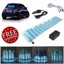 Car LED Light Stickers Equalizer Music Beat Activated Rhythm Glow Blue LED Light