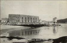 Popham Beach ME Fort Real Photo Postcard #1
