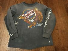 Vintage Distressed Harley Davidson Las Vegas LS T-shirt - Medium