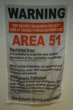 Area 51 Warning Sign Flag Banner Poster Wall Tapestry Man Cave 3x5 Feet