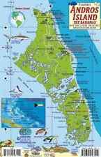 Andros Island Bahamas Dive Map & Reef Creatures Laminated Fish Card Franko Maps