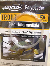 Airflo Polyleader Trout 5ft /1 50 Mtr. Clear Intermediate