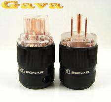 SONARQUEST Red-Copper US NEMA Power Plug & IEC