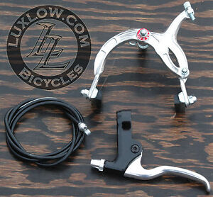 Silver Cruiser Bike Rear Brake Lever Cable Caliper BMX Vintage Schwinn Bicycle