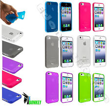CUSTODIA CASE COVER PER APPLE IPHONE 5 5S TPU GEL TRASPARENTE FLESSIBILE CLEAR