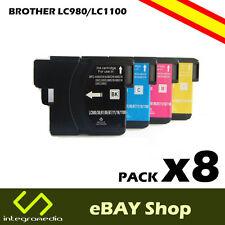 8 Cartuchos Compatibles LC980/LC1100 en impresoras Brother DCP-195C