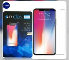 iPhone X tempered glass screen protector made by nuglas! 2x per pack!