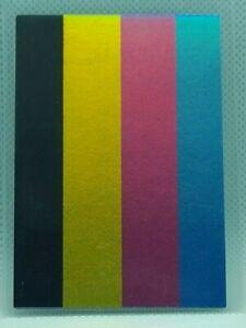 YU-GI-OH  TEST PATTERN PRINT / MISPRINT  FOIL