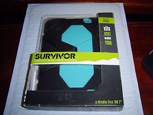 "Black/ Pool Blue Survivor for 7"" Kindle Fire HD GRIFFIN"