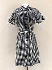 Vintage Dress 1960's Dress Houndstooth Dress Sweater Dress Work Dress Size Large