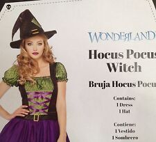 Witch Halloween Costume Womens Size M 8 10 Medium Cosplay Dress and Hat