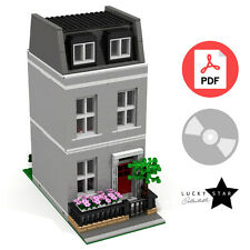 Lego Modular PDF Instructions - Grey Georgian Townhouse - London Terraced House