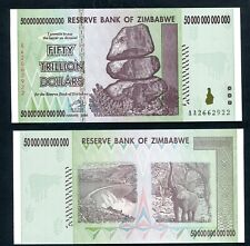 ZIMBABWE 50,000,000,000,000 Dollar Banknotes UNC GENUINE 50 TRILLION GREAT PRICE
