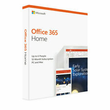 Microsoft Office 365 Home 1 Year Subscription 6 Users Product Key (emailed)
